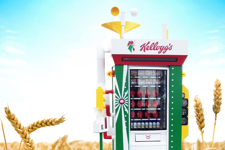 Kellogg's weather vending machine