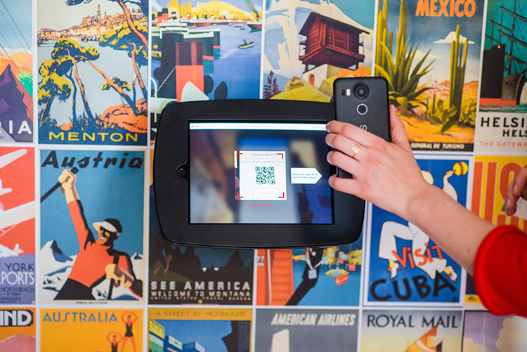 QR codes used in automated retail and retail environments